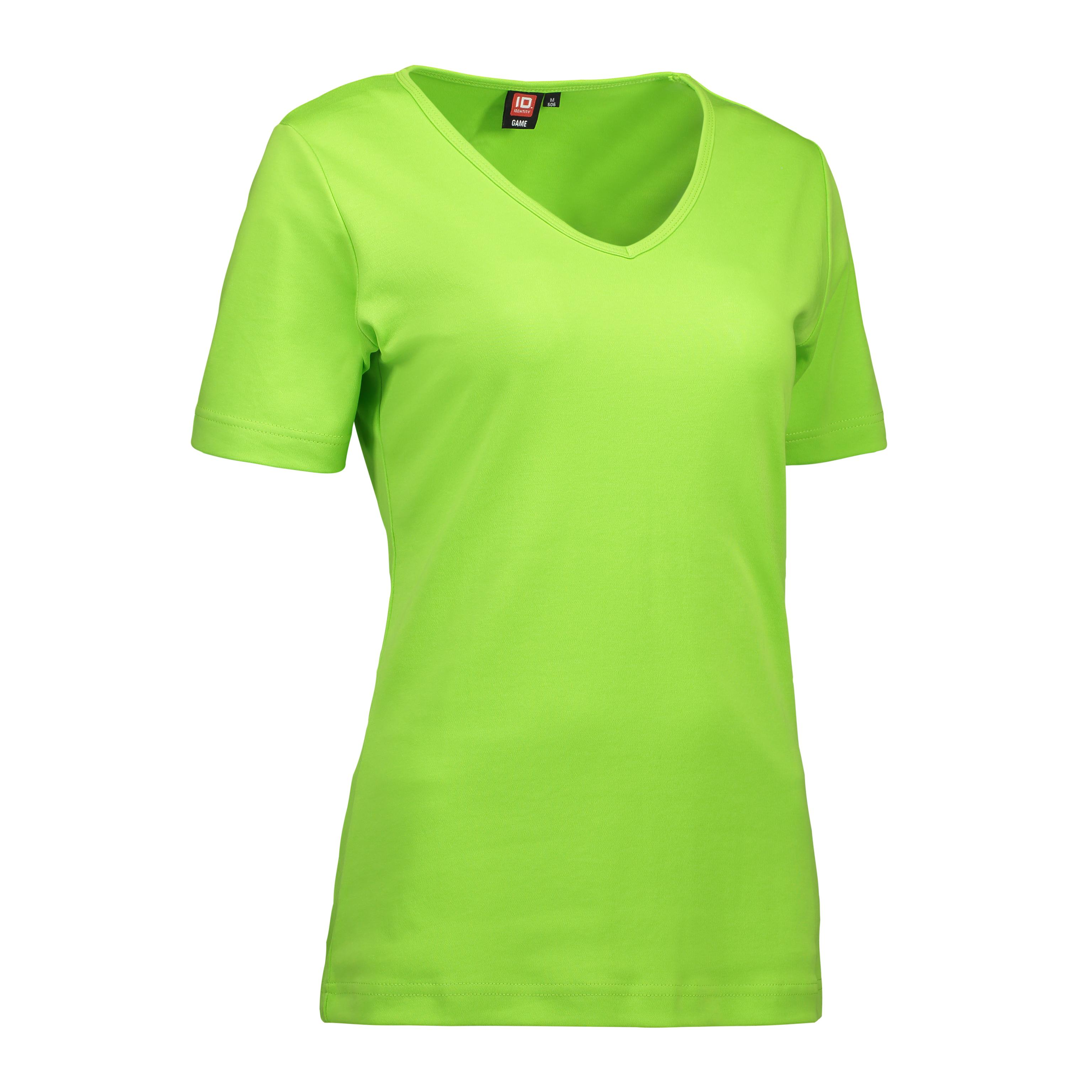 ID Interlock dame T shirt| v hals 0506