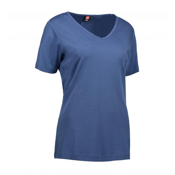 ID Interlock dame T-shirt| v-hals