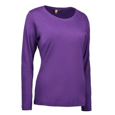 ID Interlock dame T-shirt|langærm