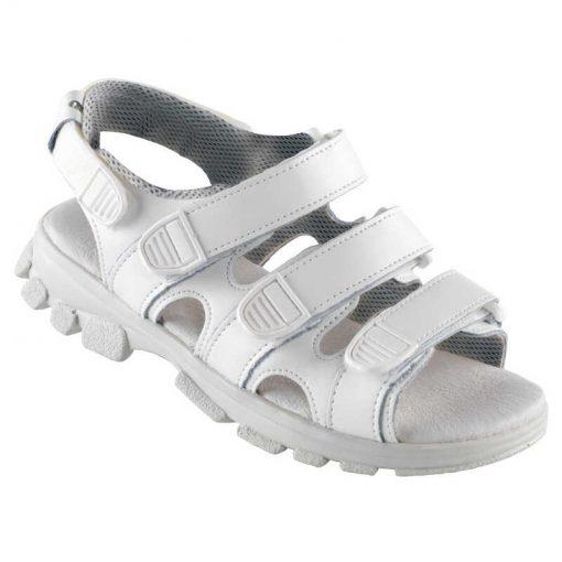 Euro-Dan WALKI® TREK sandal med 3 velcro remme og anatomisk 9 mm skindbetrukket indersål